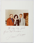 Autographs:Authors, Louis L'Amour (1908-1988, American Western Novelist). Photograph with Inscribed Mat to Ted Gunderson, Former Head of the FBI i...