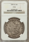 1890-CC $1 Fine 15 NGC. NGC Census: (53/5410). PCGS Population (100/9775). Mintage: 2,309,041. Numismedia Wsl. Price for...