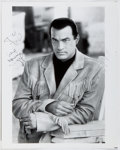 Autographs:Celebrities, Steven Seagal (1952- , American Film Actor). Inscribed Photographto Ted Gunderson, Former Head of the FBI in Los Angeles. A...