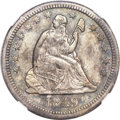 Seated Quarters, 1849-O 25C AU53 NGC....