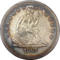 Seated Quarters, 1867 25C MS61 PCGS....