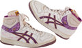 Basketball Collectibles:Others, Late 1980's Michael Cooper Game Worn, Signed Shoes....