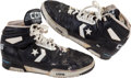 Basketball Collectibles:Others, Late 1980's Larry Bird Game Worn Signed Shoes. ...