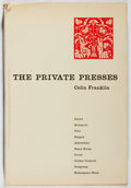 Books:Books about Books, [Books About Books]. Colin Franklin. The Private Presses. Dufour, [1969]. First edition. In original dj. Some ed...