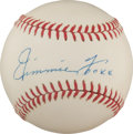 Autographs:Baseballs, The Finest Jimmie Foxx Single Signed Baseball on Earth....