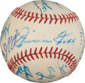 "Autographs:Baseballs, 1952 Baseball Legends Multi-Signed Baseball from Famous ""TootsShor"" Summit, PSA/DNA NM-MT 8...."