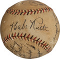 Autographs:Baseballs, 1931 New York Yankees Partial Team Signed Baseball....