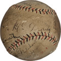 Autographs:Baseballs, 1919 New York Giants Team Signed Baseball with Mathewson, Youngs....