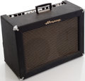 Musical Instruments:Amplifiers, PA, & Effects, 1960s Ampeg Super Echo Twin Navy Blue Guitar Amplifier, Serial #312120....