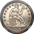Proof Seated Dimes, 1856 10C PR64+ Cameo NGC. CAC. Breen-3295, Greer-105. ...