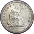 Seated Quarters, 1874-S 25C Arrows MS65 PCGS....