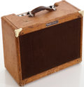 Musical Instruments:Amplifiers, PA, & Effects, 1957 Fender Deluxe Tweed Guitar Amplifier, Serial # D04190....