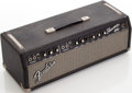 Musical Instruments:Amplifiers, PA, & Effects, 1966 Fender Showman Black Guitar Amplifier Head, Serial # A05577....