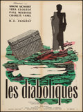 "Movie Posters:Mystery, Les Diaboliques (Cinedis, R-1960s). French Affiche (23.5"" X 31.5"").Mystery.. ..."