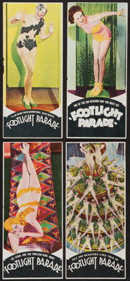 "Footlight Parade (Warner Brothers, 1933). Novelty Heralds (4) (4"" X 8.5""). Musical. ... (Total: 4 Items)"
