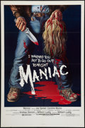 "Movie Posters:Horror, Maniac (Analysis Film, 1980). One Sheet (27"" X 41""). Horror.. ..."