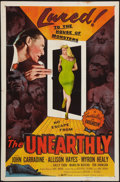 "Movie Posters:Science Fiction, The Unearthly (Republic, 1957). One Sheet (27"" X 41""). ScienceFiction.. ..."