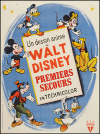 "Walt Disney Cartoon Stock (late 1940s-early 1950s). French Affiche (23.5"" X 31.5""). Animation"