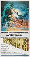 """Movie Posters:Fantasy, When Dinosaurs Ruled the Earth (Warner Brothers, 1970). Three Sheet(41"""" X 80""""). Fantasy.. ..."""