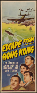 "Movie Posters:Adventure, Escape from Hong Kong (Universal, 1942). Insert (14"" X 36"").Adventure.. ..."
