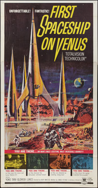 "First Spaceship on Venus (Crown International, 1962). Three Sheet (41"" X 81""). Science Fiction"