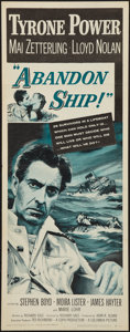 "Movie Posters:Adventure, Abandon Ship! (Columbia, 1957). Insert (14"" X 36""). Adventure.. ..."