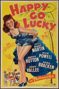 "Happy Go Lucky (Paramount, 1943). One Sheet (27"" X 41""). Musical"