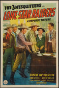"Movie Posters:Western, Lone Star Raiders (Republic, 1940). One Sheet (27"" X 41""). Western.. ..."
