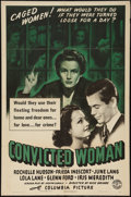 "Movie Posters:Bad Girl, Convicted Woman (Columbia, 1940). One Sheet (27"" X 41""). Bad Girl....."