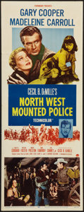 """Movie Posters:Adventure, North West Mounted Police (Paramount, R-1958). Insert (14"""" X 36"""").Adventure.. ..."""