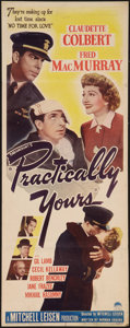 """Movie Posters:Comedy, Practically Yours (Paramount, 1944). Insert (14"""" X 36""""). Comedy.. ..."""