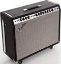 Musical Instruments:Amplifiers, PA, & Effects, 1973 Fender Twin Reverb Black Guitar Amplifier, Serial # A62506....