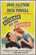 """Movie Posters:Comedy, The Reformer and the Redhead (MGM, 1950). One Sheet (27"""" X 41""""). Comedy.. ..."""