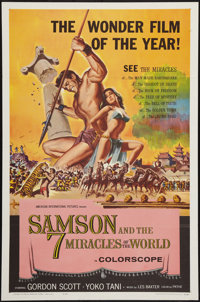 "Samson and the Seven Miracles of the World (American International, 1961). One Sheet (27"" X 41""). Action"