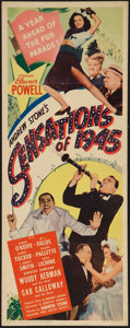 "Movie Posters:Musical, Sensations of 1945 (United Artists, 1944). Insert (14"" X 36""). Musical.. ..."