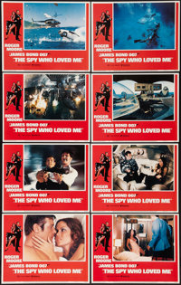 "The Spy Who Loved Me (United Artists, 1977). Lobby Card Set of 8 (11"" X 14""). James Bond. ... (Total: 8 Items)"
