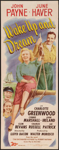 "Movie Posters:Adventure, Wake Up and Dream (20th Century Fox, 1946). Insert (14"" X 36"").Adventure.. ..."