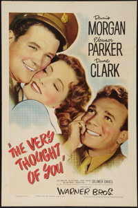 """The Very Thought of You (Warner Brothers, 1944). One Sheet (27"""" X 41""""). Romance"""