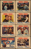 "Movie Posters:Drama, Wings for the Eagle (Warner Brothers, 1942). Lobby Card Set of 8(11"" X 14""). Drama.. ... (Total: 8 Items)"