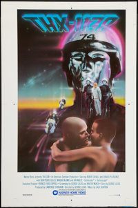 """THX 1138 (Warner Brothers Home Video, R-1983). Uncut Video Poster (25"""" X 38""""). Science Fiction"""