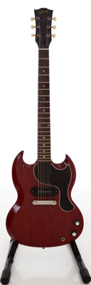 1961 Gibson Les Paul Junior Cherry Solid Body Electric Guitar, Serial # 110202