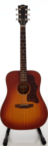 Musical Instruments:Acoustic Guitars, 1976 Gibson J-45 Deluxe Sunburst Acoustic Guitar, Serial # A004044. ...