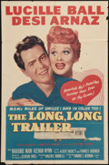 "Movie Posters:Comedy, The Long, Long Trailer (MGM, 1954). One Sheet (27"" X 41""). Comedy.. ..."