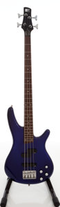 Musical Instruments:Bass Guitars, 2001 Ibanez Soundgear SR300DX Violet Electric Bass Guitar, Serial # C01038466....