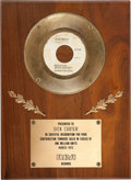 "Music Memorabilia:Awards, Elvis Presley Gold Record Award for ""Wear My Ring Around YourNeck""...."