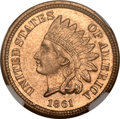 Proof Indian Cents, 1861 1C PR65 NGC....