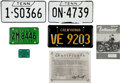Music Memorabilia:Memorabilia, Elvis Presley Car and Motorcycle Licence Plate Group (1960s-70s).... (Total: 9 Items)