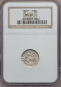 Seated Dimes, 1857 10C MS65 NGC....