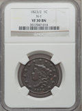Large Cents, 1823/2 1C VF30 NGC. N-1, Low R.2....