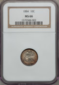 Seated Dimes, 1884 10C MS66 NGC....